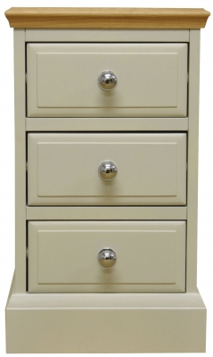Arlington Oak and Stone Painted 3 Drawer Bedside Cabinet