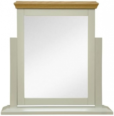 Arlington Oak and Stone Painted Trinket Mirror