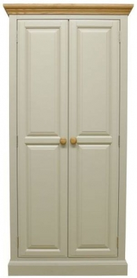 Arlington Oak and Stone Painted 2 Door Wardrobe