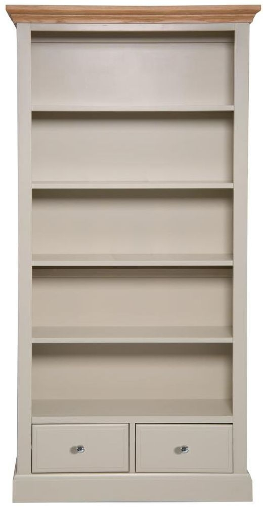 Aspen Painted 2 Drawer Large Bookcase