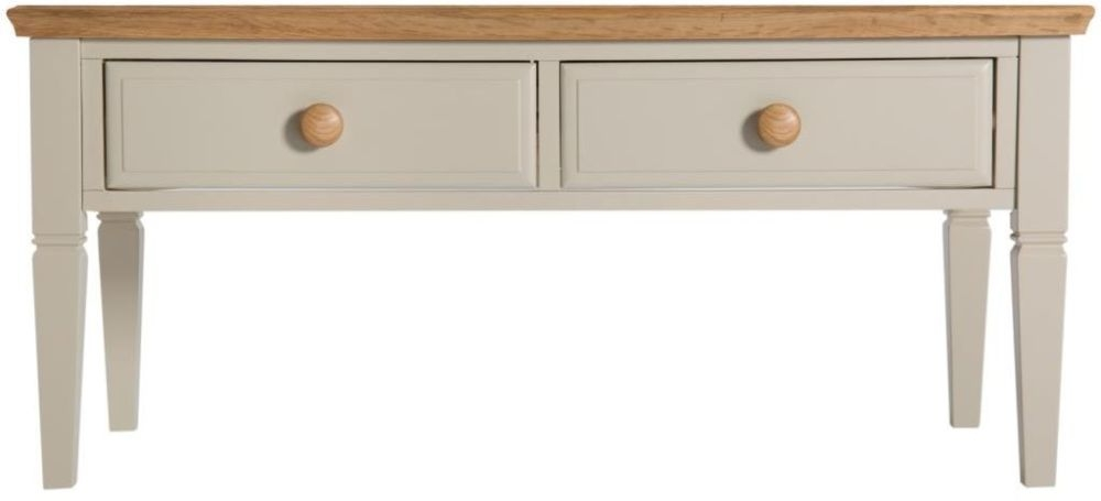 Aspen Painted 2 Drawer Storage Coffee Table