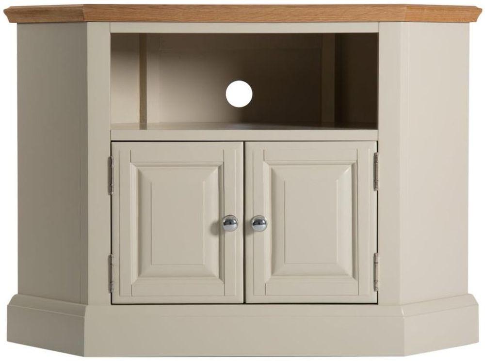 Aspen Painted 2 Door Corner TV Cabinet