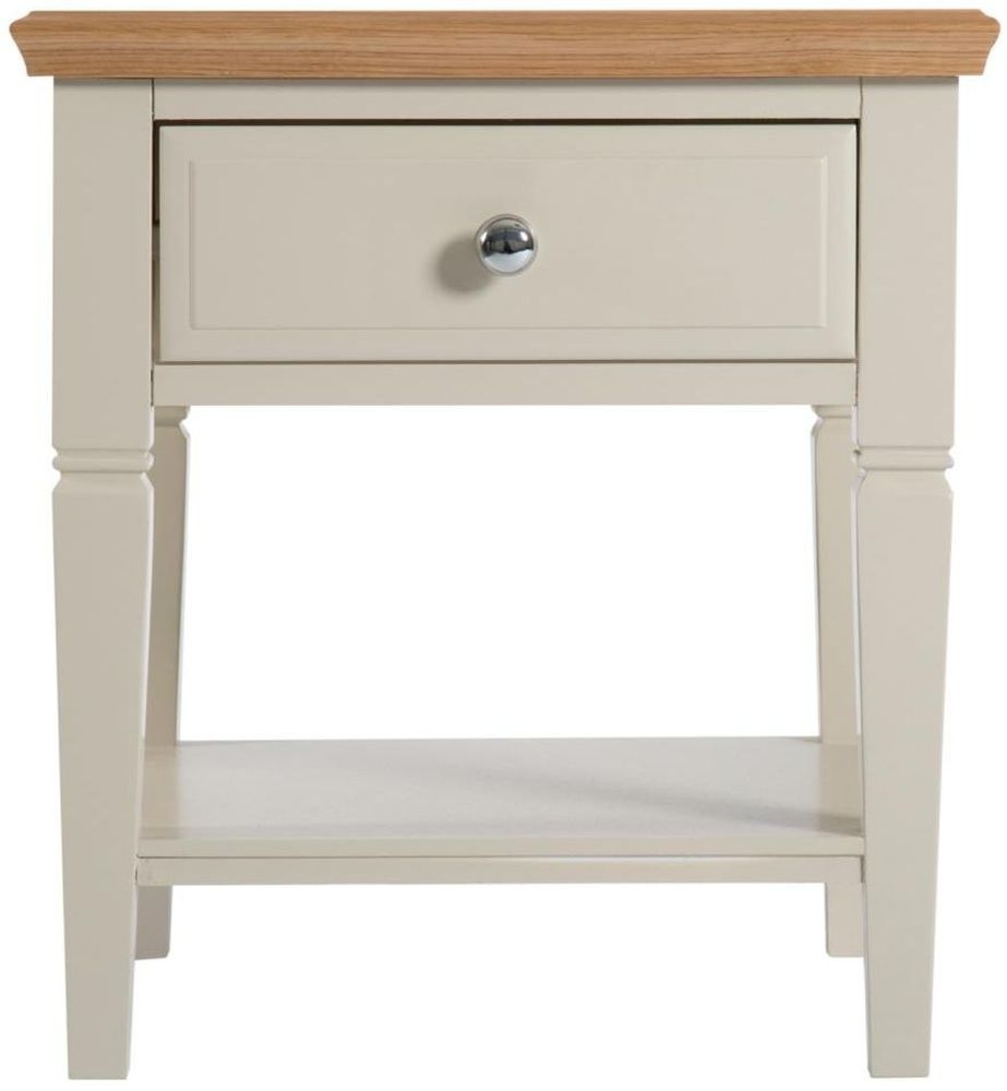 Aspen Painted 1 Drawer Lamp Table
