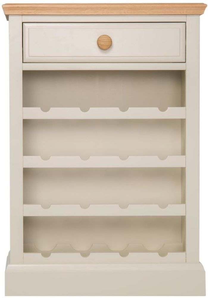 Aspen Painted 1 Drawer Wine Cabinet