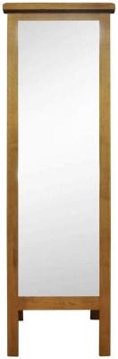 Buxton Waxed Oak Cheval Mirror