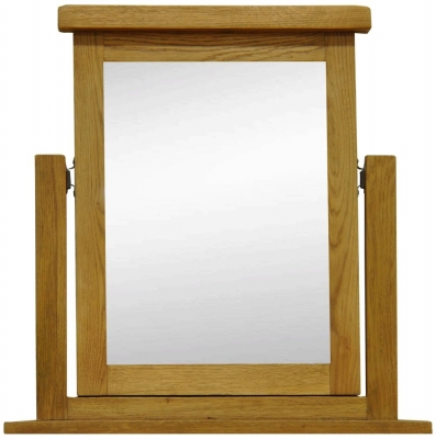 Buxton Oak Trinket Mirror