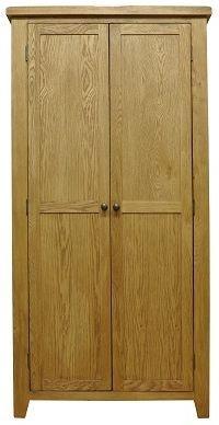 Buxton Waxed Oak Wardrobe - Full Hanging