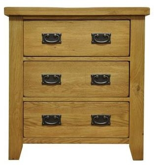 Buxton Waxed Oak Chest - 3 Drawer