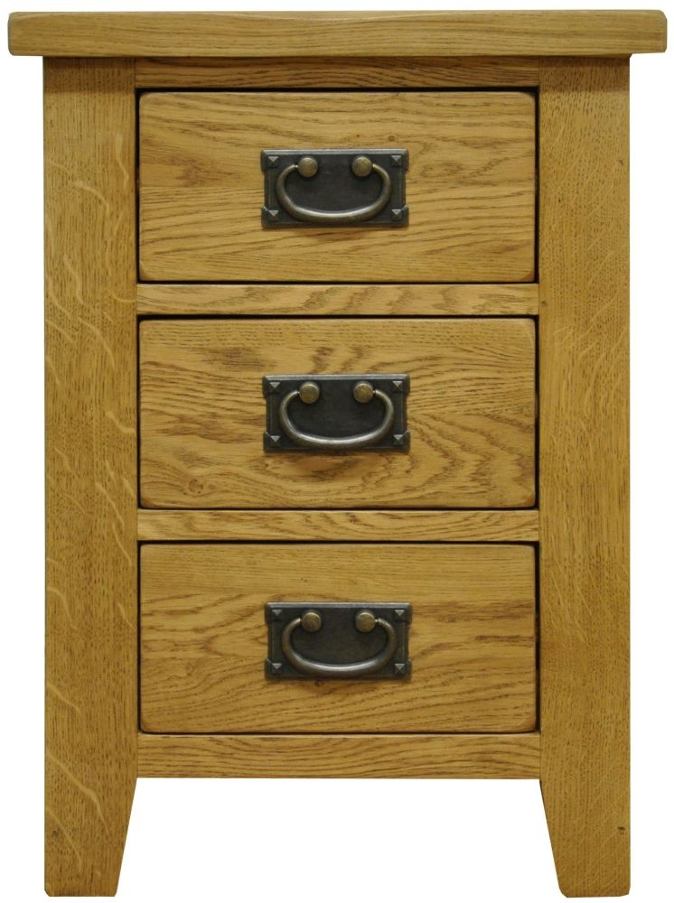 b745d6b7eaeb Buy Buxton Waxed Oak 3 Drawer Large Bedside Cabinet Online - CFS UK