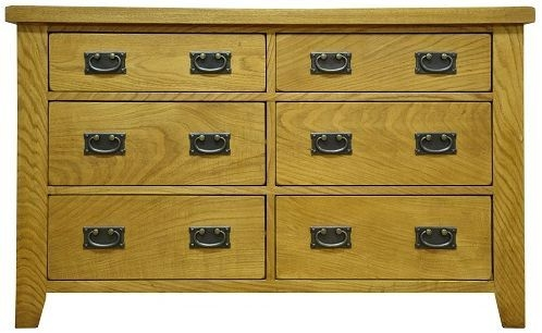 Buxton Waxed Oak 6 Drawer Chest