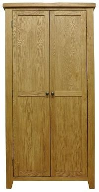 Buxton Waxed Oak Full Hanging Double Wardrobe