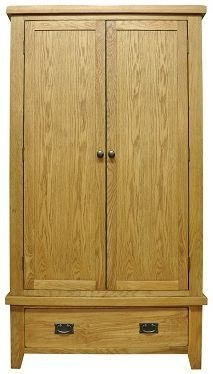 Buxton Waxed Oak Wardrobe - Gents