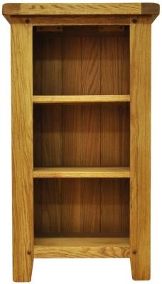 Buxton Waxed Oak Bookcase - Small Narrow