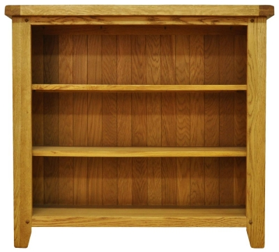 Buxton Waxed Oak Bookcase - Small Wide