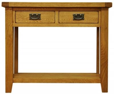 Buxton Waxed Oak Console Table