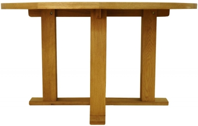 Buxton Waxed Oak Dining Table - Round