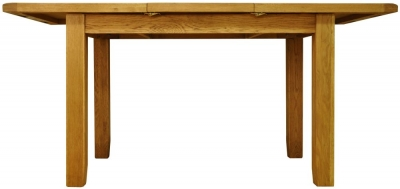 Buxton Waxed Oak Dining Table - Small Butterfly Extending