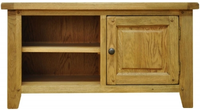 Buxton Waxed Oak TV Unit - Standard