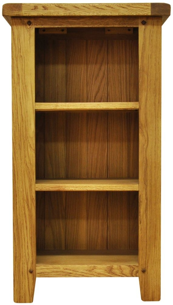 Buxton Waxed Oak Small Narrow Bookcase