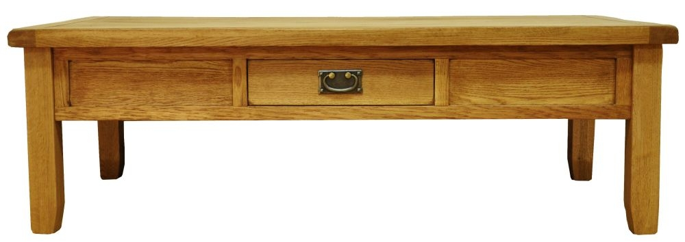 Buxton Waxed Oak 1 Drawer Storage Coffee Table