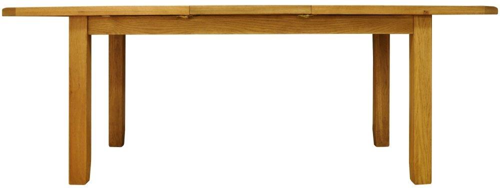Buxton Waxed Oak Rectangular Extending Dining Table - 160cm-210cm