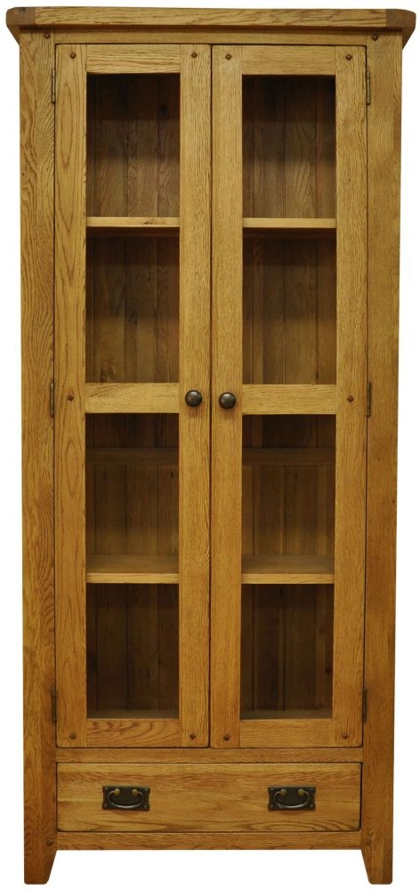 Buxton Oak Display Cabinet