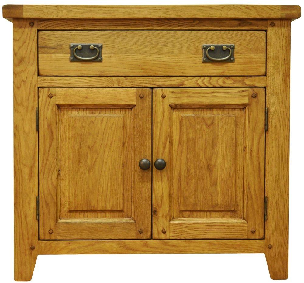 Buxton Waxed Oak 2 Door Narrow Sideboard