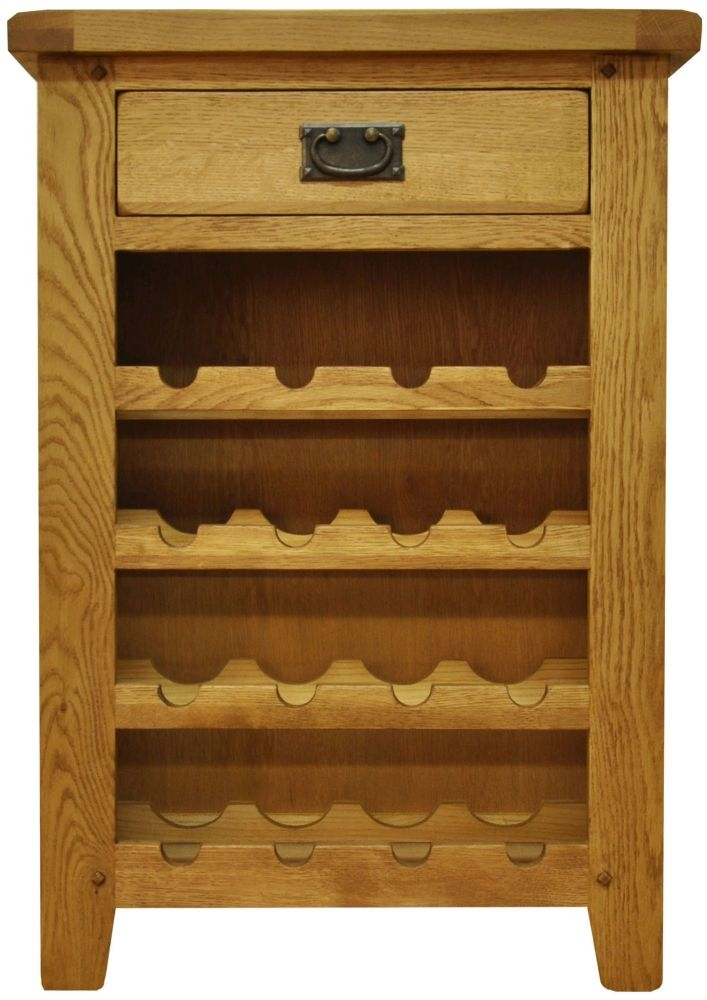 Buxton Waxed Oak Wine Cabinet