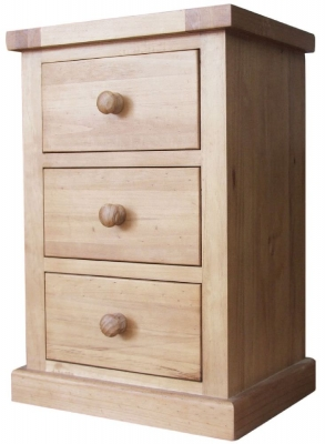 Cairo Pine Bedside Cabinet - 3 Drawer