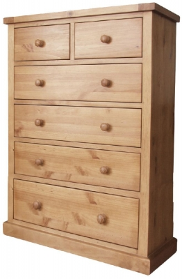 Cairo Pine Chest of Drawer - 2 Over 4 Drawer Jumbo