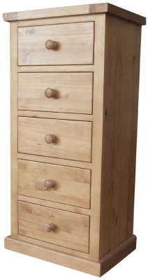 Cairo Pine Chest of Drawer - 5 Drawer Wellington