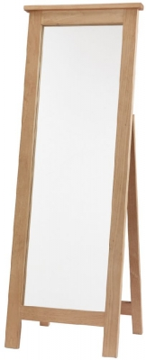 Cairo Wax Finished Chunky Solid Pine Cheval Mirror