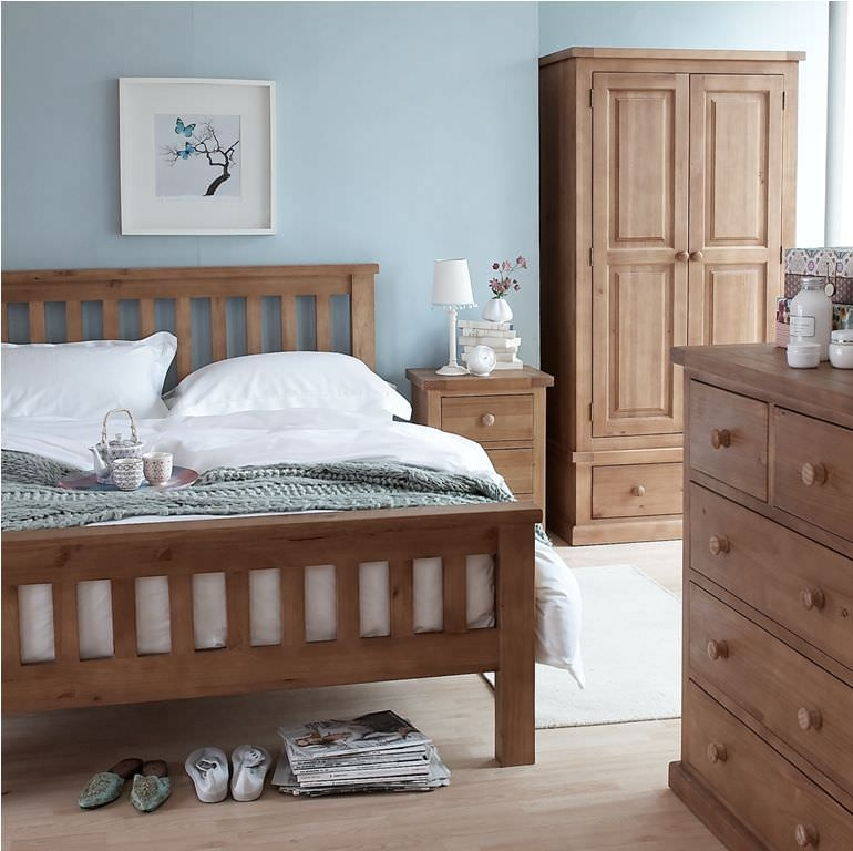 Cairo Wax Finished Chunky Solid Pine Bedroom Package