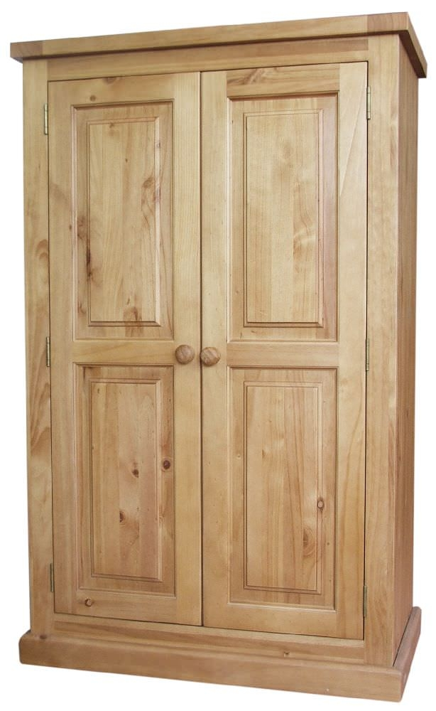 Cairo Pine Wardrobe - 2 Door Small