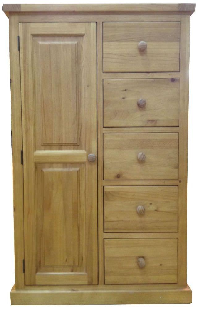 Cairo Pine Wardrobe - Combi