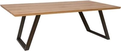 Calgary 220cm Rustic Oak and Metal Dining Table