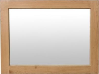 Calgary Rustic Oak Rectangular Wall Mirror - 120cm x 90cm