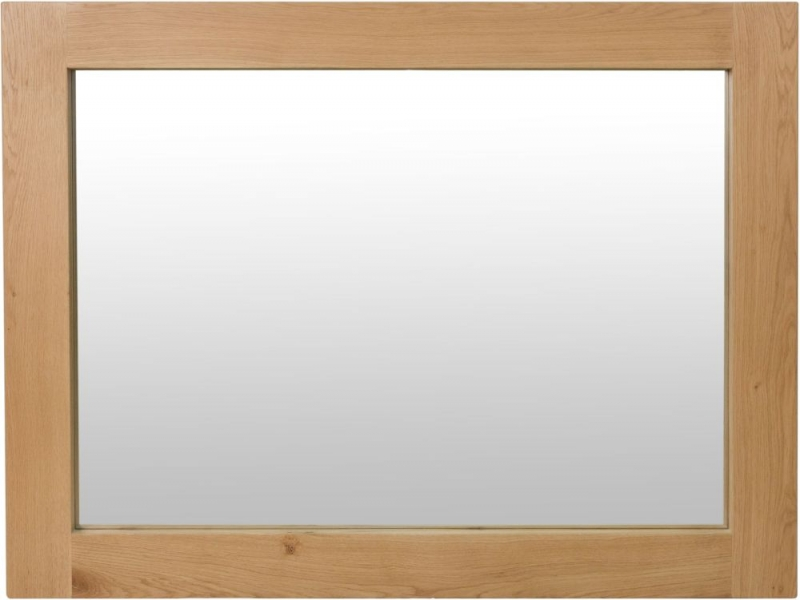 Calgary Rustic Oak Rectangular Wall Mirror - 120cm x 90cm