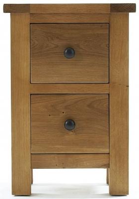 Camellia Oak Bedside Cabinet - 2 Drawer