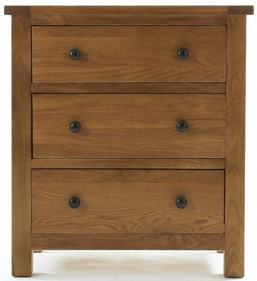 Camellia Oak Chest of Drawer - 3 Drawer