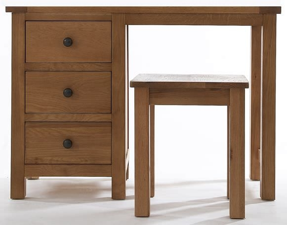 Camellia Oak Dressing Table and Stool