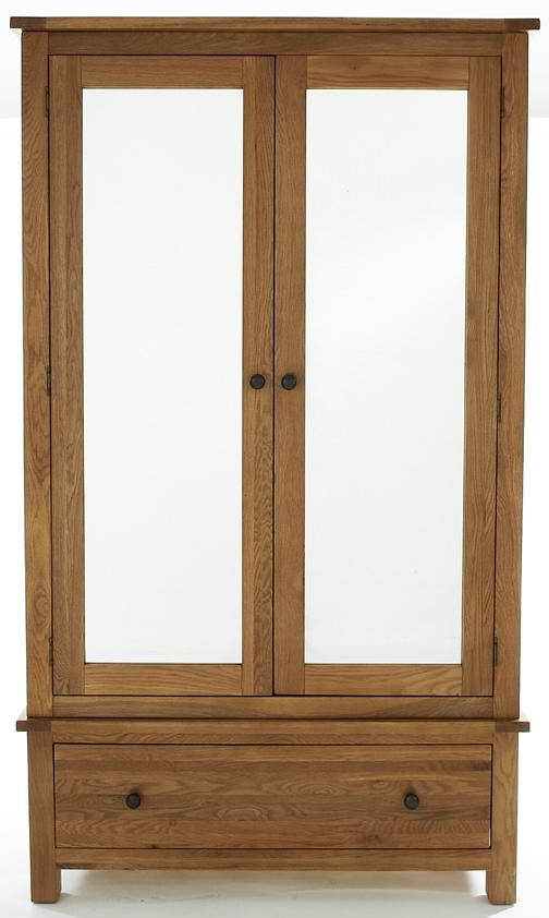 Camellia Oak Wardrobe - Large 2 Door Mirrored