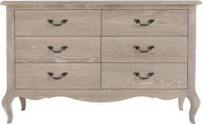 Camille Weathered Oak 6 Drawer Chest