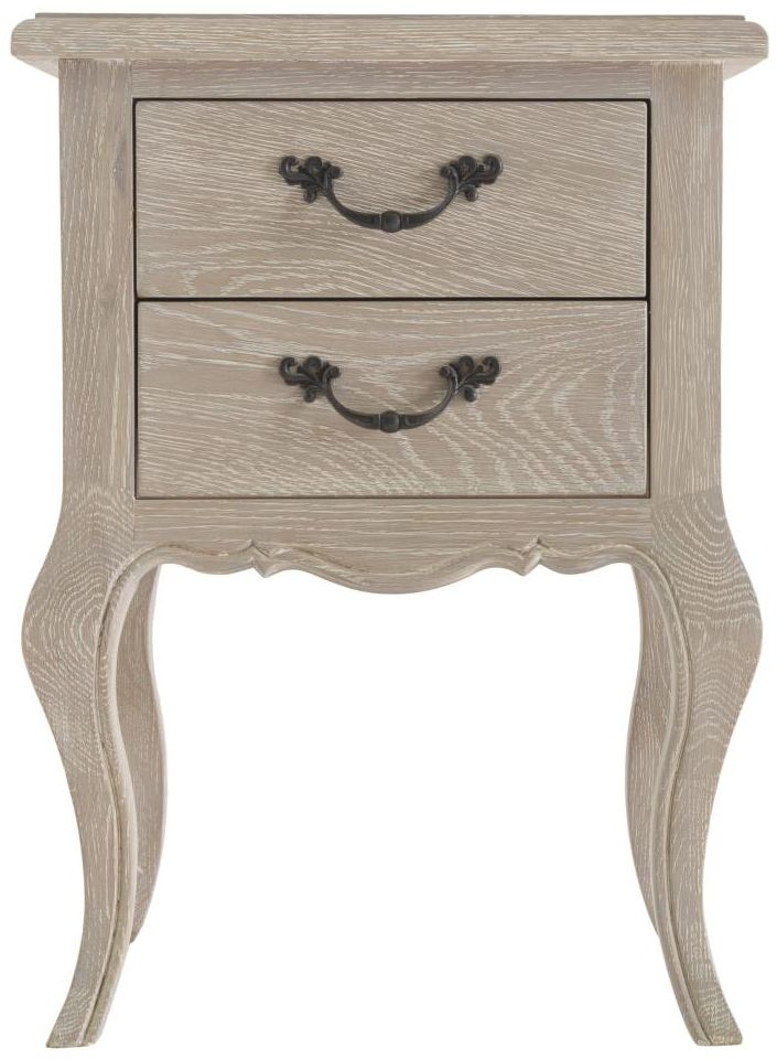 Camille Weathered Oak Narrow Bedside Cabinet