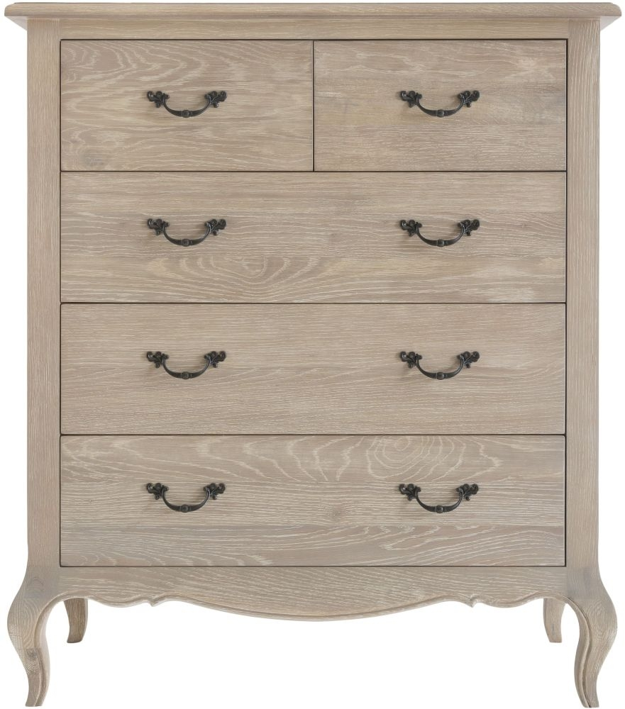 Camille Weathered Oak 2+3 Drawer Chest