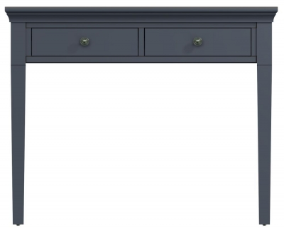 Chantilly Midnight Grey Painted Painted 2 Drawer Dressing Table