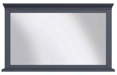 Chantilly Midnight Grey Painted Rectangular Wall Mirror - 100cm x 60cm