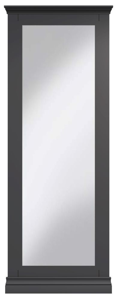 Chantilly Midnight Grey Painted Cheval Mirror