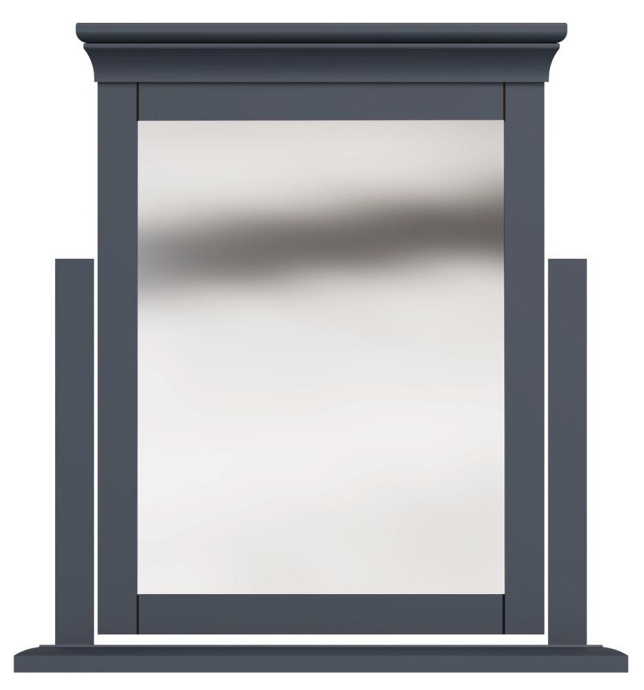 Chantilly Midnight Grey Painted Trinket Mirror