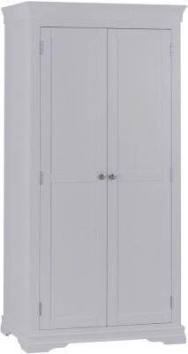 Chantilly Moonlight Grey Painted 2 Door Wardrobe